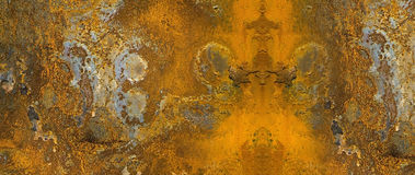 Rusty metal banner. Website banner of a rusty grunge metal Royalty Free Stock Images