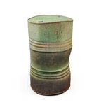 Rusty metal barrel. 3d. Rusty metal barrel  on white background. 3d illustration Stock Photography