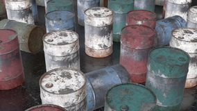 Rusty metal barrel. Watch HD