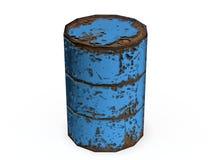 Rusty metal barrel Stock Images