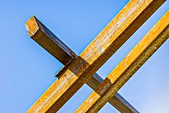 Rusty metal beams Royalty Free Stock Images