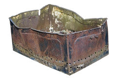 The rusty metal box Stock Images