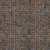 Rusty metal brick background seamless. Rusty metal brick background seamless, decoration of metal walls for interiors and exteriors Stock Images