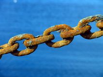Rusty Metal Chain Royalty Free Stock Image