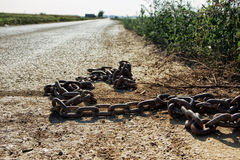 Rusty Metal Chain Imagen de archivo libre de regalías