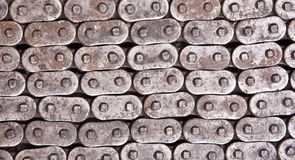 Rusty Metal Chain Texture Stock Afbeeldingen