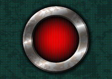 Rusty metal circle with red lamp Royalty Free Stock Photos