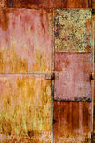 Rusty Metal Colorful Background Stock Photography
