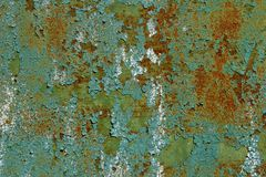 Rusty Metal With Cracked And flagig målarfärg Royaltyfri Bild