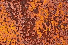 Rusty metal with cracked paint grunge background Stock Photo