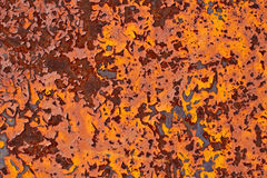 Rusty metal with cracked paint grunge background Royalty Free Stock Photo