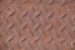 Rusty Metal Diamond Plate stock photo