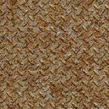 Rusty Metal Diamond Plate. Seamless Texture. Royalty Free Stock Photo