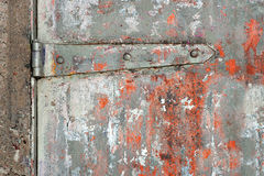 Rusty metal door Royalty Free Stock Image