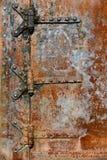 Rusty metal door details Stock Images