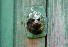 Rusty metal door handle Stock Images