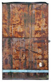 It is a rusty metal door in the underground bunker Stock Photos