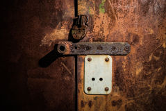 Rusty metal doors stock photography