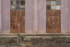 Rusty metal doors Royalty Free Stock Photos