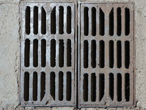 Rusty metal drain parts Royalty Free Stock Photography