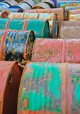 Rusty metal drums Stock Image