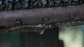 Rusty Metal Faces stock footage