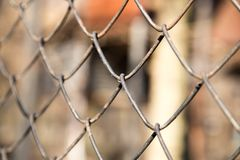 Rusty metal fence as a backdrop Stock Image