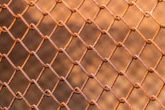 Rusty metal fence Royalty Free Stock Images