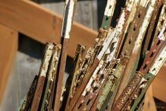 Rusty Metal Fence Stakes Immagini Stock Libere da Diritti