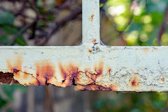 Rusty metal fences. Metal fence is being rusty cause of rain and oxygen Royalty Free Stock Photography