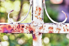 Rusty metal fences. Metal fence is being rusty cause of rain and oxygen Royalty Free Stock Images