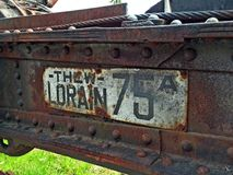 Rusty metal forestry equipment Stock Photos