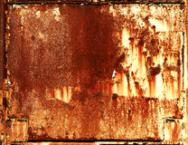 Rusty metal frame background. Rusty grungy surface metal frame background royalty free stock photos