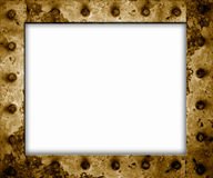 Rusty metal frame isolated Stock Photo