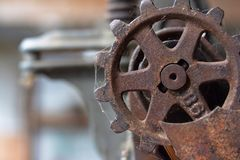 Rusty metal gear industrial Royalty Free Stock Images