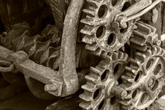 Rusty metal gears and cogwheels. old industrial mechanism. Stock Photography