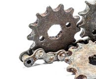 Rusty metal gears Royalty Free Stock Images