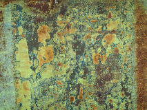 Rusty metal with green paint Stock Photography
