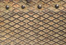 Rusty metal grid Royalty Free Stock Images