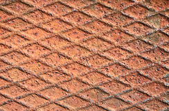 Rusty metal grid background Stock Image