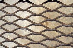 Rusty metal grid Royalty Free Stock Image