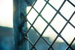 Rusty metal grille with paint residues Royalty Free Stock Photos