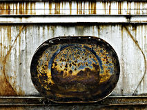 Rusty metal hatch Stock Image