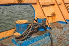 Rusty metal hawser Royalty Free Stock Photos