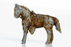 Rusty metal horse Royalty Free Stock Photos
