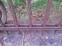 Rusty metal iron fence Royalty Free Stock Images