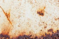 Rusty Metal korrosion av yttersidan, Grungetexturen eller backgroen Fotografering för Bildbyråer