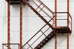 Rusty metal ladder Royalty Free Stock Images