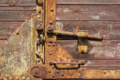 Rusty metal latch Royalty Free Stock Photography