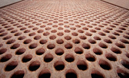 Rusty metal lattice - heat exchanger Royalty Free Stock Photos